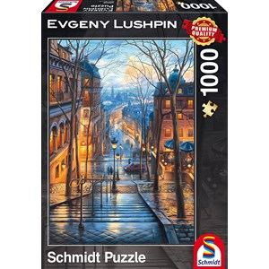 "Schmidt Spiele (59560) - Eugene Lushpin: ""Spring Morning in Montmartre"" - 1000 piezas"