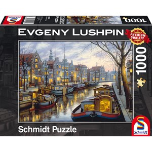 "Schmidt Spiele (59561) - Eugene Lushpin: ""On the Canal"" - 1000 piezas"