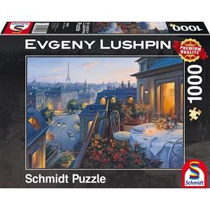 "Schmidt Spiele (59562) - Eugene Lushpin: ""Evening in Paris"" - 1000 piezas"