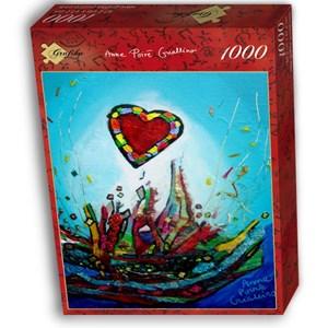 "Grafika (02458) - Anne Poire, Patrick Guallino: ""Eclats d'Amour"" - 1000 piezas"