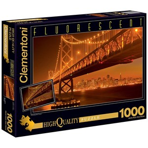 "Clementoni (39175) - ""San Francisco by Night"" - 1000 piezas"