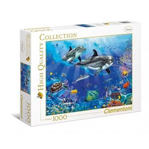"""Clementoni (94051) - Christian Riese Lassen: """"Dolphins"""" - 1000 piezas"""