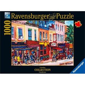 """Ravensburger (19624) - Carole Spandau: """"St. Laurent, Montreal"""" - 1000 piezas"""