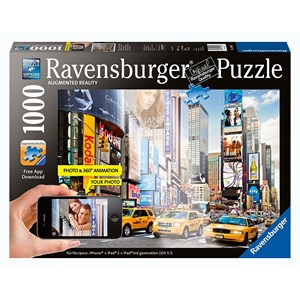 """Ravensburger (19306) - """"Colorful Activity at Times Square, New York"""" - 1000 piezas"""