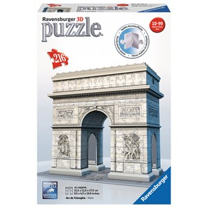 "Ravensburger (12514) - ""The Arc de Triomphe, Paris"" - 216 piezas"
