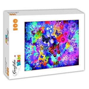 "Grafika Kids (02013) - ""Colorful Flowers and Butterflies"" - 100 piezas"