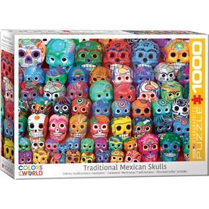 "Eurographics (6000-5316) - ""Traditional Mexican Skulls"" - 1000 piezas"