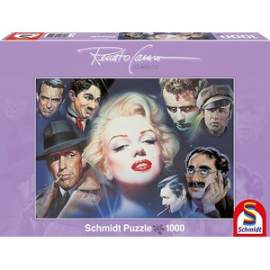 "Schmidt Spiele (57550) - Renato Casaro: ""Marilyn Monroe and Friends"" - 1000 piezas"
