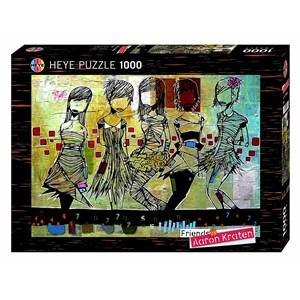 """Heye (29418) - Aaron Kraten: """"Girls / Filles"""" - 1000 piezas"""