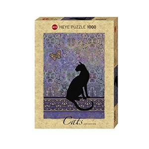 "Heye (29534) - Jane Crowther: ""Cats Silhouette"" - 1000 piezas"