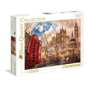 """Clementoni (31807) - """"Vintage London"""" - 1500 piezas"""
