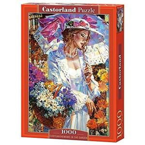 """Castorland (C-103294) - Alexander Lashkevich: """"Chrysanthemums in the Garden"""" - 1000 piezas"""