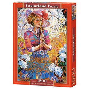 "Castorland (C-151363) - Alexander Lashkevich: ""A Girl with an Openwork Umbrella"" - 1000 piezas"