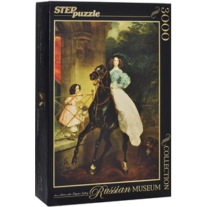 "Step Puzzle (85202) - Karl Briulov: ""The Rider"" - 3000 piezas"