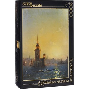 """Step Puzzle (84202) - Ivan Aivazovsky: """"View of Leandrovsk tower in Constantinople"""" - 2000 piezas"""