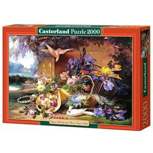 "Castorland (C-200276) - Eugene Bidau: ""Elegant Still Life with Flowers"" - 2000 piezas"