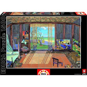 "Educa (15534) - Damian Elwes: ""Gauguin's Studio"" - 1500 piezas"