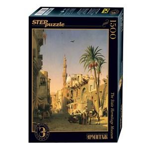 """Step Puzzle (83207) - Prosper Marilhat: """"Place de l'Esbekieh au Caire"""" - 1500 piezas"""