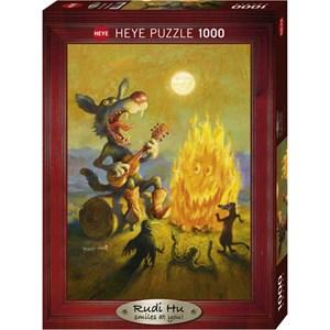 """Heye (29620) - Rudi Hurzlmeier: """"Singing Coyote"""" - 1000 piezas"""
