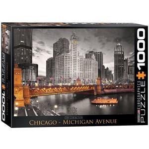 "Eurographics (6000-0658) - ""Chicago, Michigan Avenue"" - 1000 piezas"