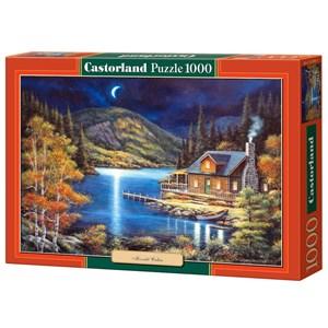 """Castorland (C-102990) - John Zaccheo: """"Moonlit Cabin"""" - 1000 piezas"""