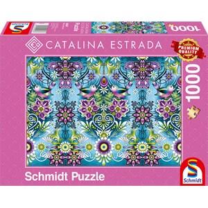 "Schmidt Spiele (59587) - Catalina Estrada: ""Blue Sparrow"" - 1000 piezas"