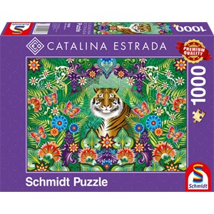 """Schmidt Spiele (59588) - Catalina Estrada: """"Bengal Tiger"""" - 1000 piezas"""