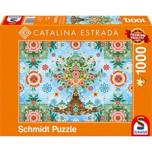 "Schmidt Spiele (59589) - Catalina Estrada: ""Colorful Tree"" - 1000 piezas"