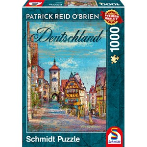 "Schmidt Spiele (59582) - Patrick Reid O'Brien: ""Germany"" - 1000 piezas"