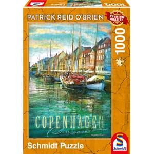 "Schmidt Spiele (59583) - Patrick Reid O'Brien: ""Copenhagen"" - 1000 piezas"