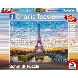 """Schmidt Spiele (59580) - Charis Tsevis: """"Paris"""" - 1000 piezas"""