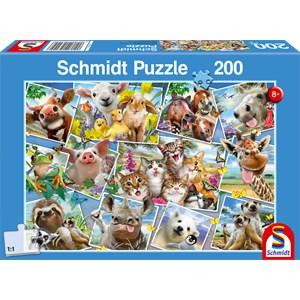 """Schmidt Spiele (56294) - """"Animal Selfies"""" - 200 piezas"""