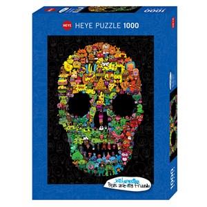 """Heye (29850) - Jon Burgerman: """"Doodle Skull"""" - 1000 piezas"""
