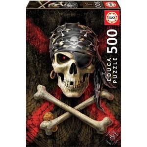 """Educa (17964) - """"Pirate Skull"""" - 500 piezas"""