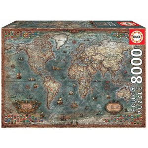 "Educa (18017) - ""Historical World Map"" - 8000 piezas"