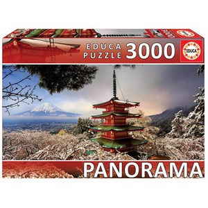 "Educa (18013) - ""Mount Fuji and Chureito Pagoda, Japan"" - 3000 piezas"