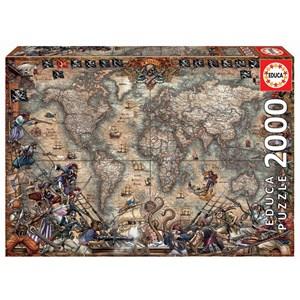 """Educa (18008) - """"Pirates Map"""" - 2000 piezas"""