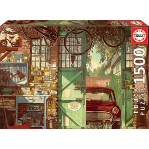 "Educa (18005) - Arly Jones: ""Old Garage"" - 1500 piezas"