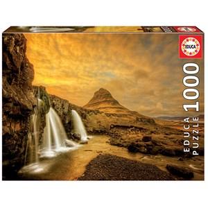 "Educa (17971) - ""Kirkjufellsfoss Waterfall, Iceland"" - 1000 piezas"