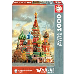"""Educa (17998) - """"St Basil´s Cathedral, Moscow"""" - 1000 piezas"""