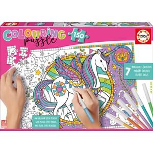 """Educa (17828) - """"Unicorn Colouring Puzzle"""" - 150 piezas"""
