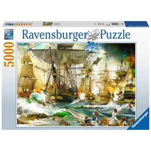 "Ravensburger (13969) - ""Battle on the High Seas"" - 5000 piezas"