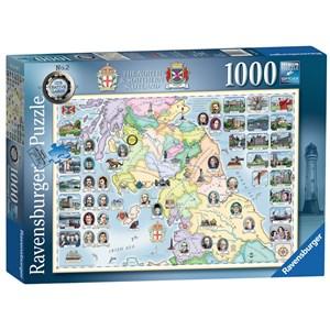 "Ravensburger (15167) - ""Our Native Lands No.2, The North & Southern Scotland"" - 1000 piezas"