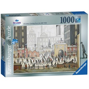 """Ravensburger (19748) - L. S. Lowry: """"Lowry Coming From the Mill"""" - 1000 piezas"""