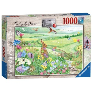 "Ravensburger (15176) - Anne Searle: ""Walking World, South Downs"" - 1000 piezas"