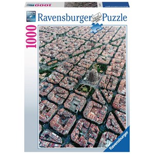 """Ravensburger (15187) - """"Barcelona from above"""" - 1000 piezas"""