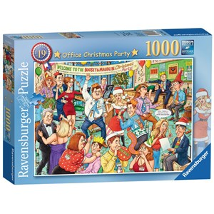 "Ravensburger (19769) - Geoffrey Tristram: ""Office Christmas Party"" - 1000 piezas"