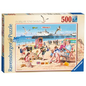 "Ravensburger (14753) - Andy Walker: ""A Day at the Beach"" - 500 piezas"