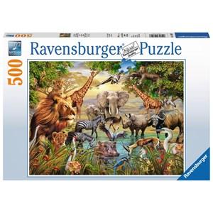"Ravensburger (14809) - ""Animals at the Waterhole"" - 500 piezas"