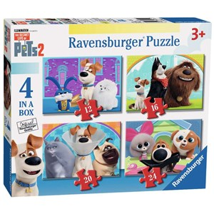 "Ravensburger (03001) - ""The Secret Life of Pets 2"" - 12 16 20 24 piezas"